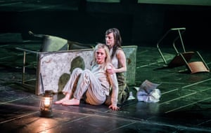 Anne-Marie Duff (left, as Lady Macbeth, with Nadia Albina) returns to the National after her performance in Common last year