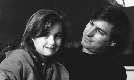 Steve Jobs with Lisa in 1989, when Lisa was 10.