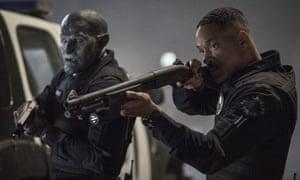 Genre-mashing urban fantasy … Netflix's latest release Bright, starring Joel Edgerton, left, and Will Smith.