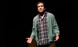 Jake Gyllenhaal on stage in the Off-Broadway play Sea Wall/A Life.