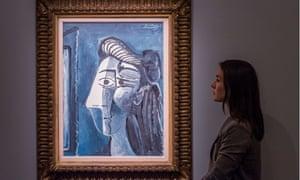 Picasso's Tête de Femme at Sothebys.
