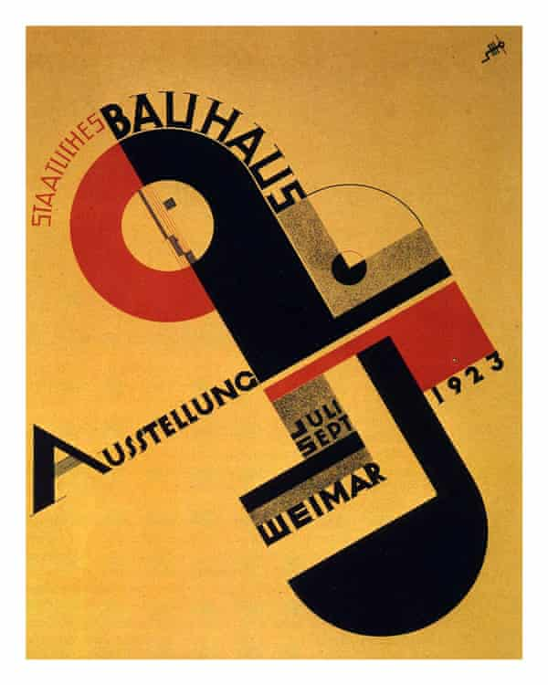 Poster designed by Joost Schmidt for the 1923 Bauhaus exhibition in Weimar, Germany.