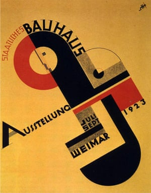 Poster designed by Joost Schmidt for the 1923 Bauhaus exhibition in Weimar