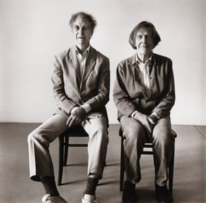 Merce Cunningham and John Cage seated, 1986, by Peter Hujar