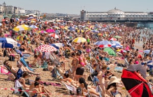 A packed Brighton beach