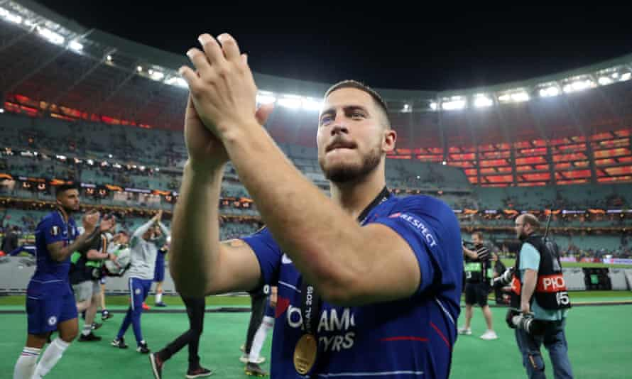 Eden Hazard leaves Chelsea after helping them to win the Europa League.