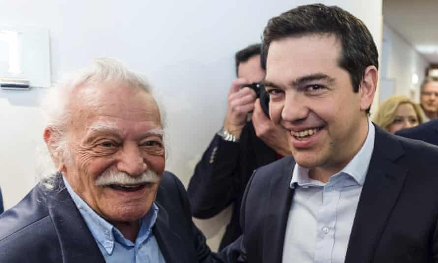 Manolis Glezos with Alexis Tspiras