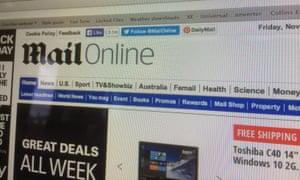 Mail Online homepage
