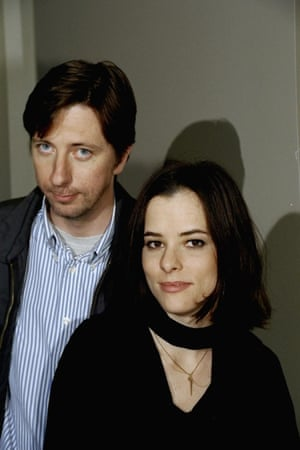 Parker Posey with director Hal Hartley. Along with the Henry Fool trilogy, Posey featured in Hartley's 1995 film Flirt about romantic entanglements in different cities, New York, Berlin and Tokyo.