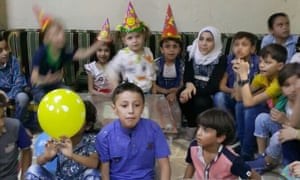 Afraa's son's birthday party