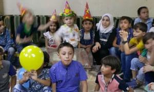 Afraa's son's birthday party