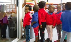 Children in line at Ubuntu centre