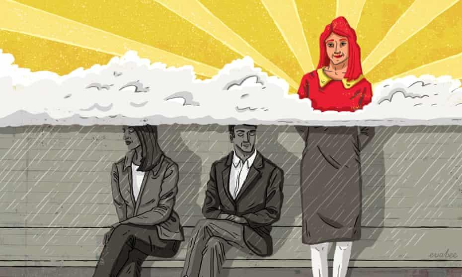 Eva Bee illustration on optimism