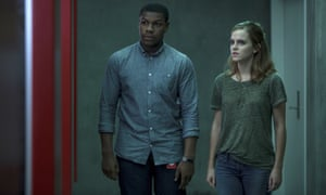 'Dialogue too often drowns in exposition, a heavy hand taking over when a more lighter touch is required' ... John Boyega and Emma Watson in The Circle.