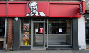 A closed KFC store in Wembley