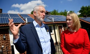 Jeremy Corbyn and Rebecca Long Bailey, the shadow business secretary.