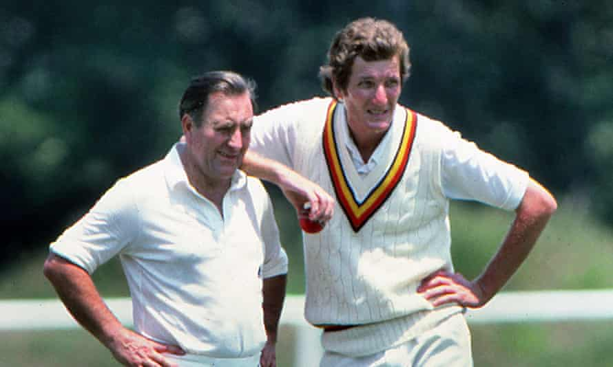 Bob Willis. right. with Doug Insole in 1982.