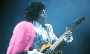 Prince performing in California, February 1985.