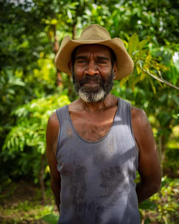 Portrait of Kuku Yalanji man Andrew Solomon.