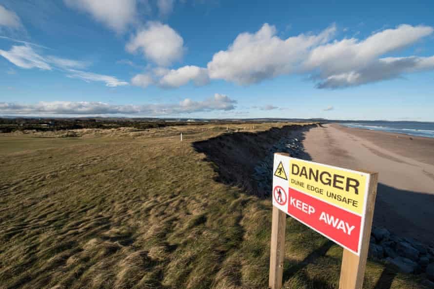 The Montrose Links course is losing two metres of coastline a year