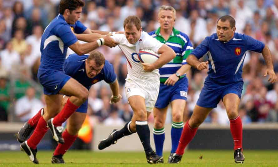 Kyran Bracken in his England prime, against France at Twickenham in 2003.