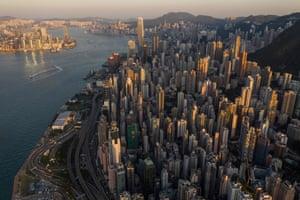 A general view of Hong Kong