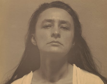 Georgia O'Keeffe photographed by Alfred Stieglitz.
