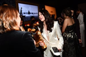 Fleabag producer Sarah Hammond at the HFPA Golden Globes screening and afterparty