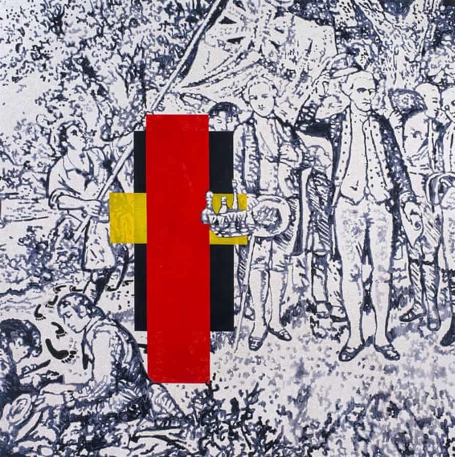 Possession Island (Abstraction) 1991, by Gordon Bennett.