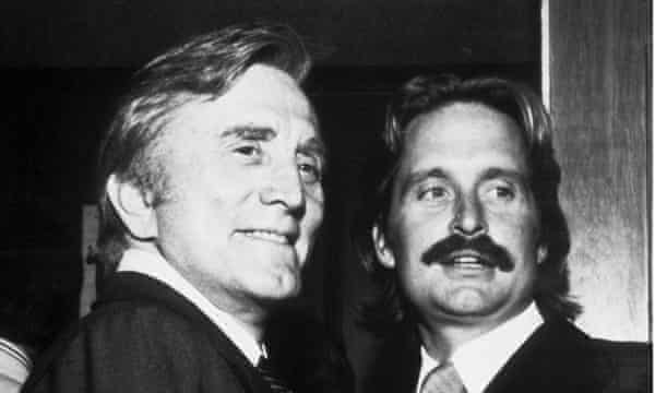 Michael Douglas with his father Kirk in 1981.