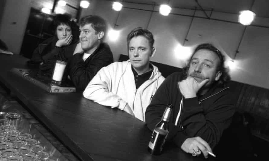 New Order in Manchester, 1993, from left: Gillian Gilbert, Stephen Morris, Bernard Sumner and Peter Hook.