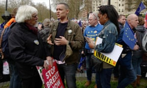 Clive Lewis MP (centre), pictured at a march for a people's vote in March 2019,