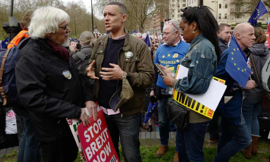 Clive Lewis MP at the Put It to the People March on 23 March 2019 in London