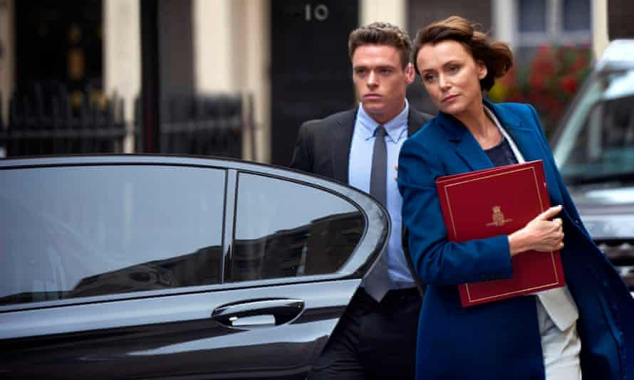 Richard Madden and Keeley Hawes in The Bodyguard