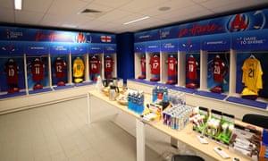 The England dressing room.