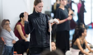 Stina Quagebeur prepares during a technical rehearsal of Akram Khan's Giselle for ENB.