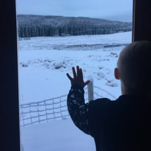 Snow outside my window by Blake, eight