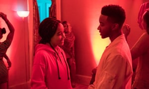The 'endlessly watchable' Amandla Stenberg, with Algee Smith in The Hate U Give.