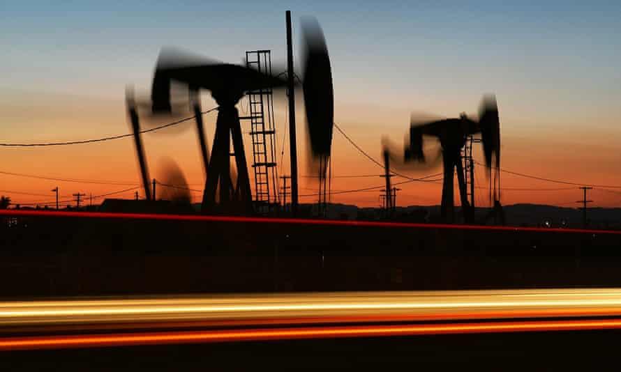 An oil rig in Culver City, California, US.