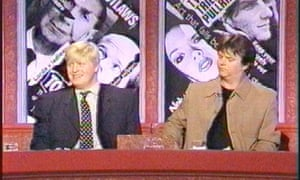 Boris Johnson with Paul Merton on the television programme Have I got news for you.