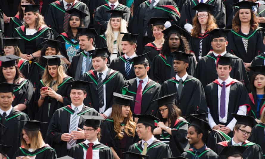 Students graduating at Aberystwyth University.