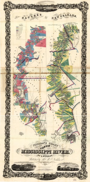 Norman's chart of the lower Mississippi River, published in 1858.