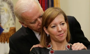 Stephanie Carter said the media had mischaracterized Biden's interaction with her, saying he was a close friend 'offering his support'.