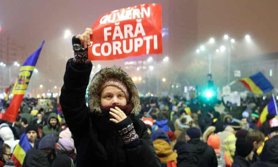 Anti-corruption protest in Romania in 2017