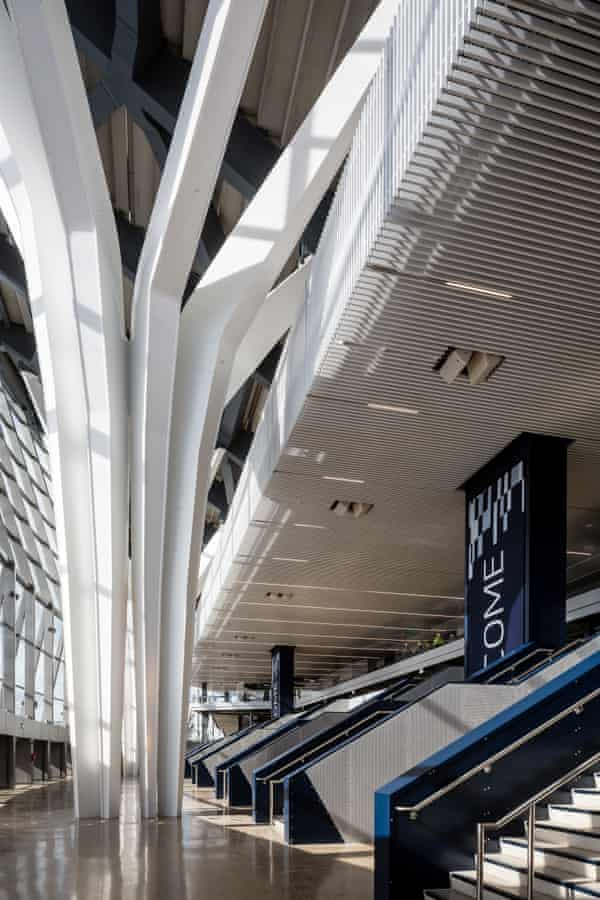 A view of the concourse of the new Tottenham Hotspur Stadium.
