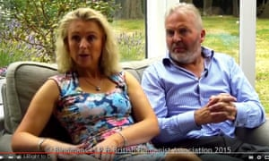 Simon Binner with his wife, Debbie