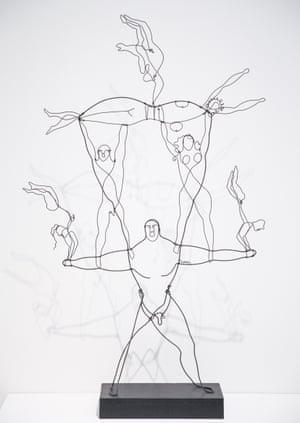 'Joyous': an Alexander Calder wire sculpture at Tate Modern.