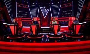 Voice UK judges Olly Murs, Tom Jones, Jennifer Hudson and will i am.