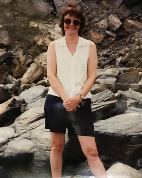 Wendy Mitchell, aged 40, on holiday in the West Country.