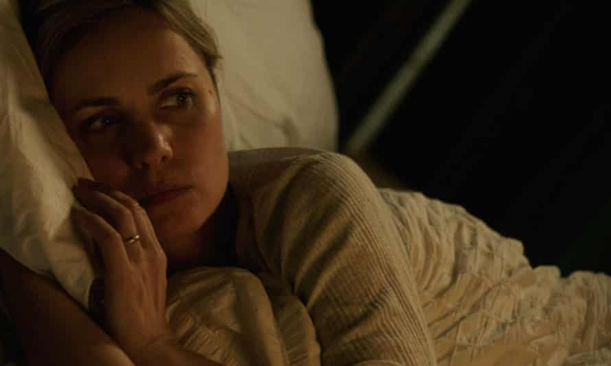 She's handy with the digger too … Radha Mitchell as Tora Hamilton in Sacrifice.